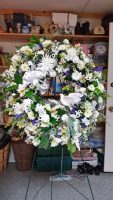 White Door Wreath