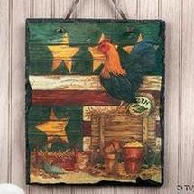 Rooster Slate Wall Hanger