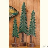 Triple Set Of Wooden Trees