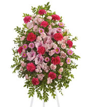 Pink Tribute Funeral Spray