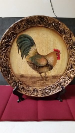 3-D Rooster Plate