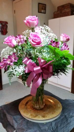 Half Pink Roses
