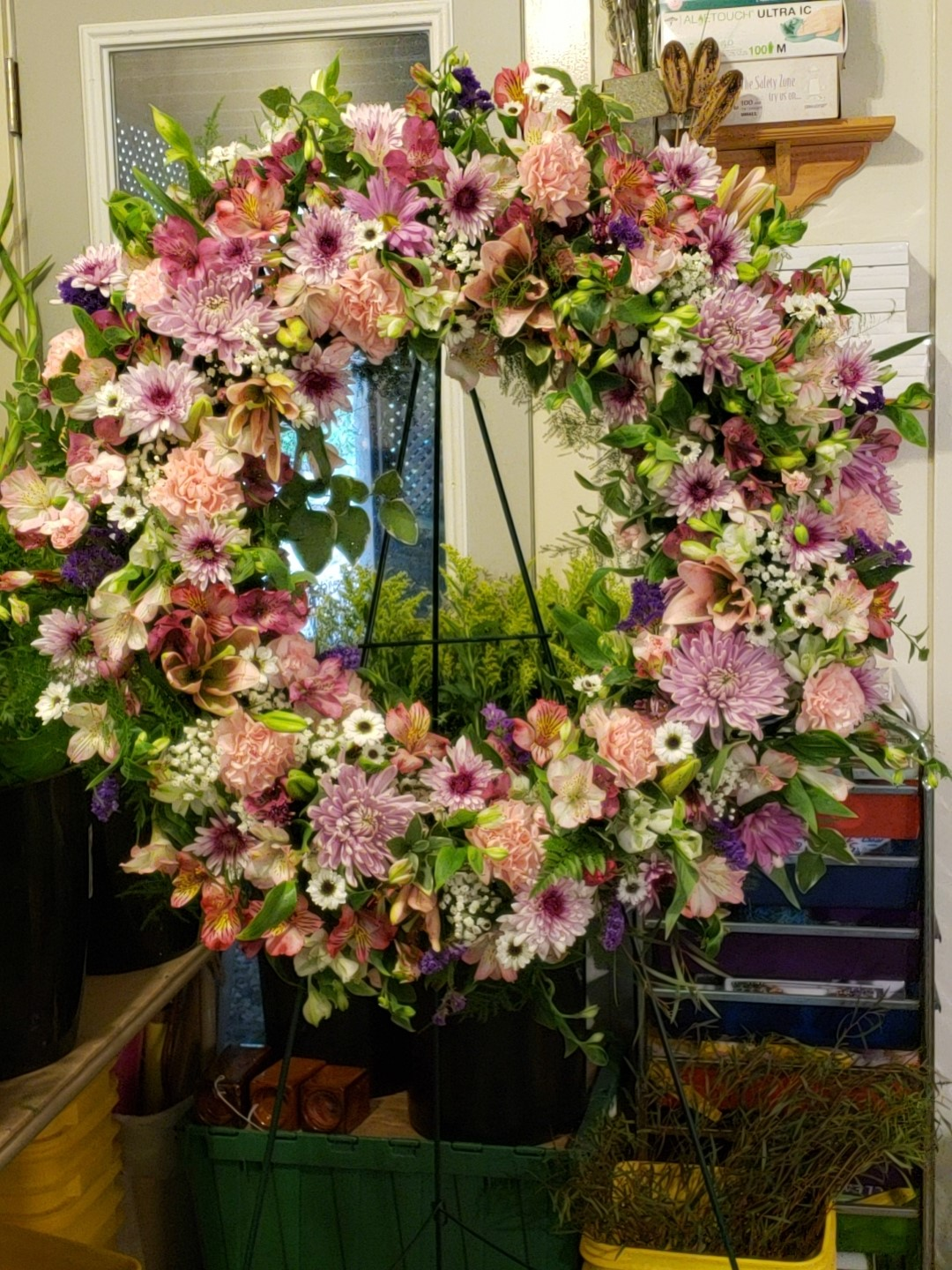 Late Summer Wreath Gainesville Florist Flower Delivery By Bibbs Florist 770 538 5003