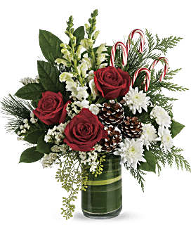 Christmas Flower Arrangements.Unique Christmas